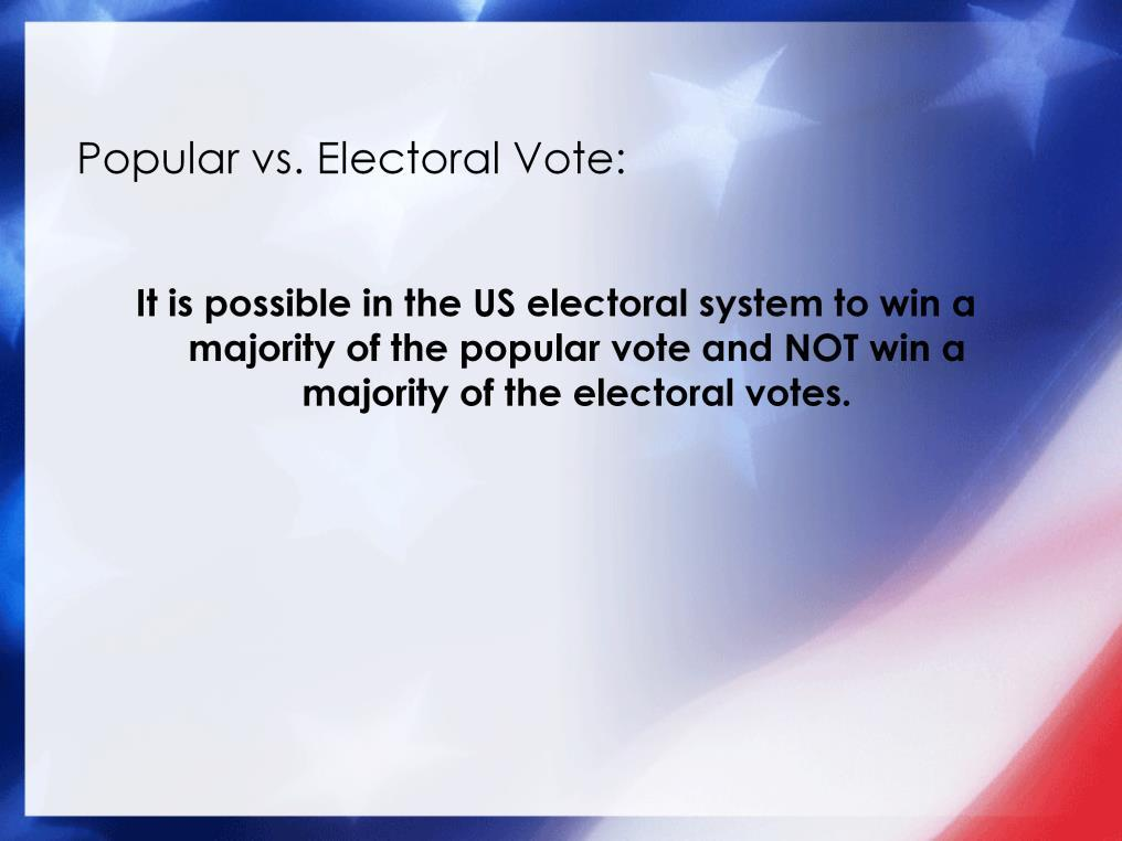 Perhaps one of the most unique and important characteristics of the US electoral system, is that it is