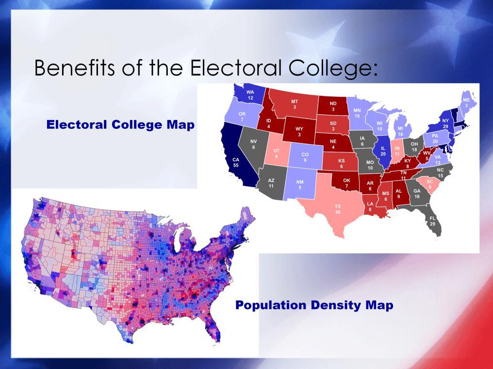 In addition, proponents argue that the Electoral College protects against the tyranny of the majority and reinforces the federalist nature of our system.