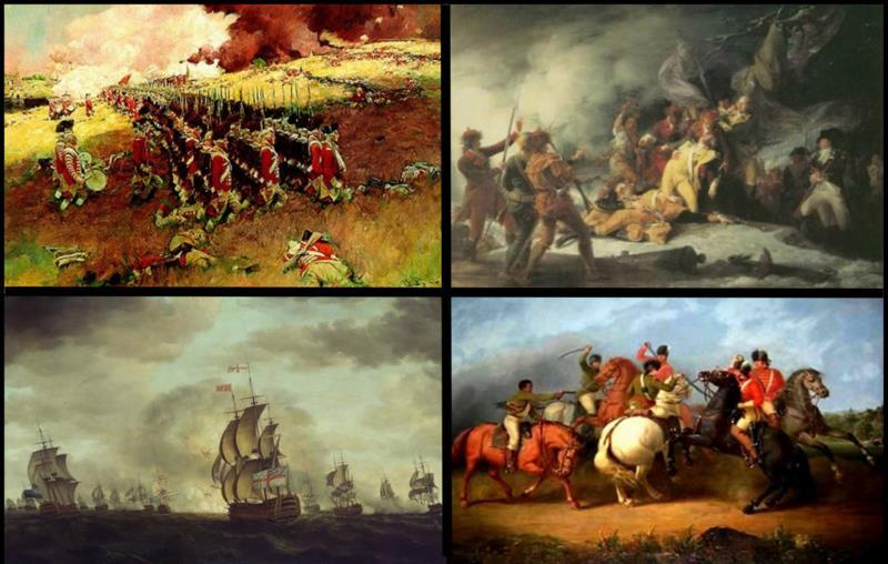 First battles fought between English and Americans