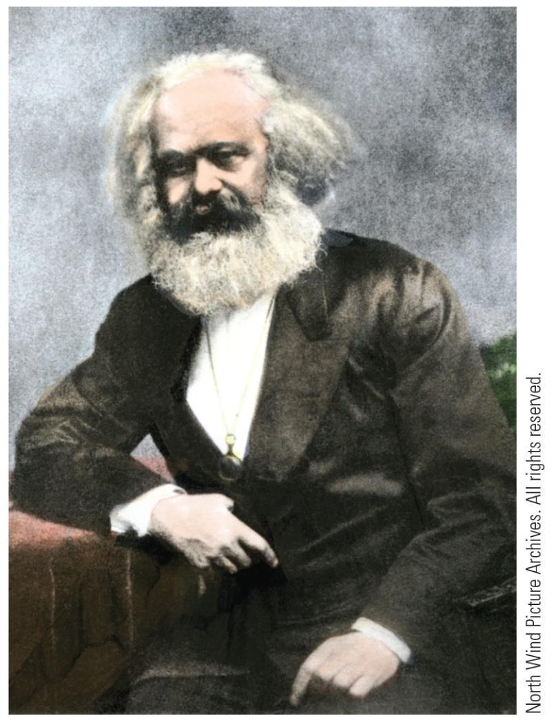 Karl Marx (1818-1883) history is a continuous clash between conflicting ideas and forces class conflict bourgeoisie