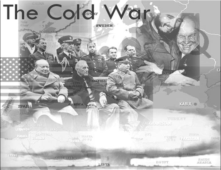 WWII ends Cold