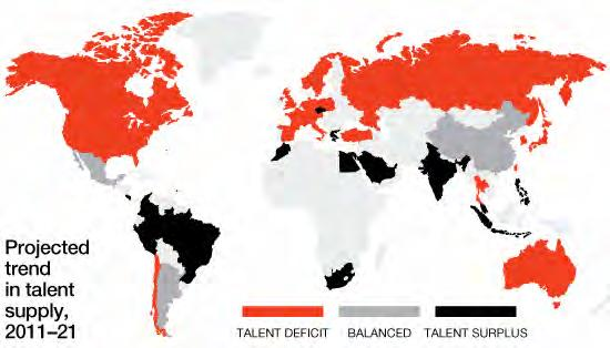 Global Talent Crunch The Global Talent Crunch Over the next decade, it is estimated that the growth in demand for collegeeducated talent will exceed the growth in supply