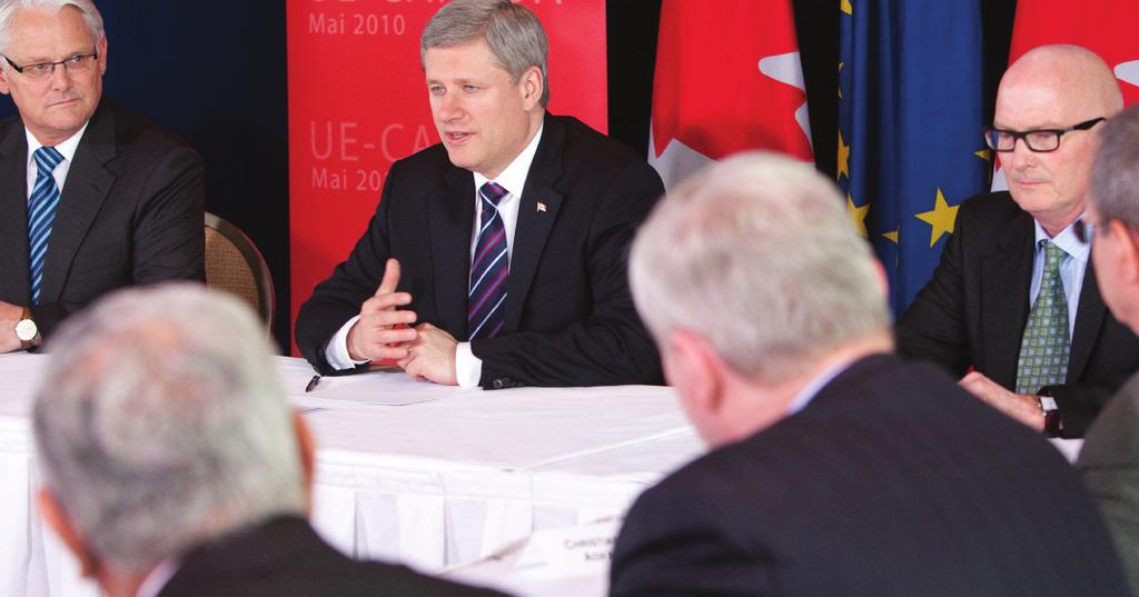The Canada-EU Comprehensive Economic and Trade Agreement Jason Ransom, PMO Prime Minister Stephen Harper on May 5 at the Canada-European Union Summit in Brussels, where the expansion of free trade