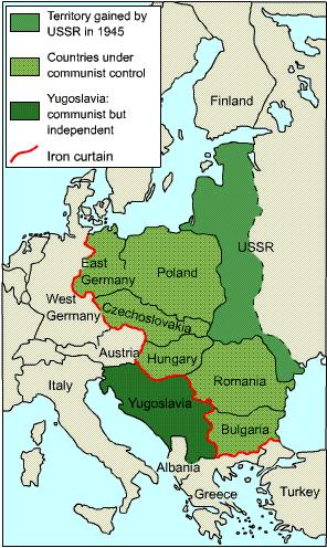 Iron Curtain A term used by