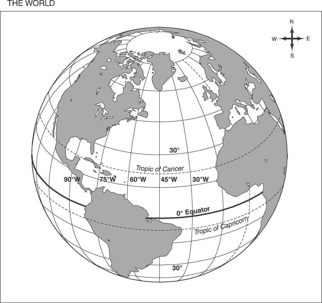 : 5th Grade Social Studies Practice Use the map below to answer question 10.