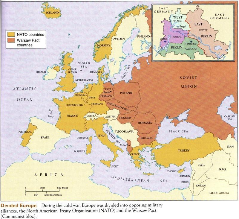 The Iron Curtain Poland, Romania, Czechoslovakia, Hungary Bulgaria and East Germany