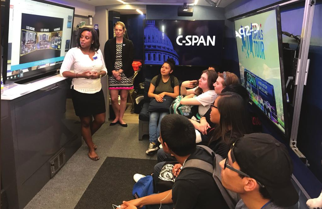 org and C-SPAN Classroom. Visitors can also test their knowledge of public affairs through quizzes, learn about our StudentCam student documentary competition, or connect with C-SPAN via social media.
