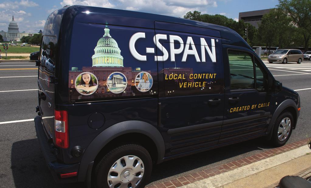 THE C-SPAN LCVs Local Content Vehicles Joining the C-SPAN Bus are C-SPAN s Local Content Vehicles (LCVs) staffed by videojournalists who identify and produce programming from local communities around