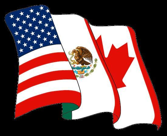 NAFTA The North American Free Trade Agreement (NAFTA) is a trade group in North America created by the governments of the United States, Canada, and Mexico.