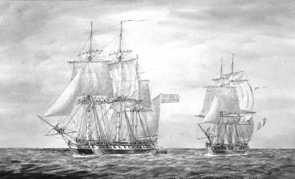 Undeclared War With France Because of XYZ Affair, US strengthened/increased the Navy Department in April 1798, set aside money for building