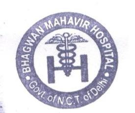 GOVERNMENT OF NATIONAL CAPITAL TERRITORY OF DELHI BHAGWAN MAHAVIR HOSPITAL H-4/5, GURU HARKISHAN MARG, PITAMPURA DELHI -110034 Email: msbmh-dhs-delhi@nic.