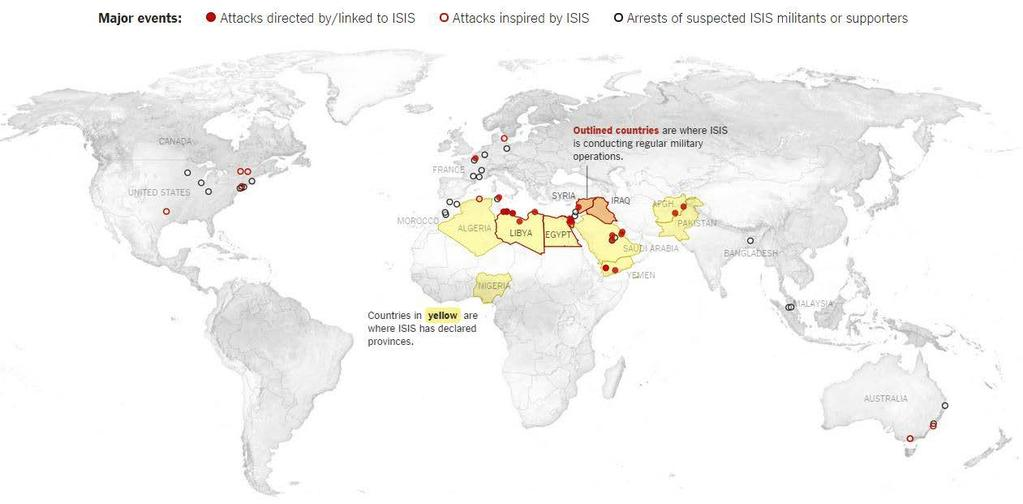 The Expansion of ISIS Beyond Iraq and Syria Inspired vs.