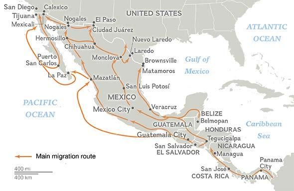 Human Migration Routes in the Americas SOURCE: MISSING