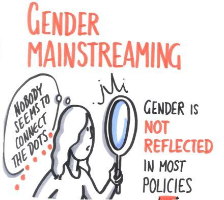 Gender mainstreaming Strategic engagement sets out that the dual approach of key actions and