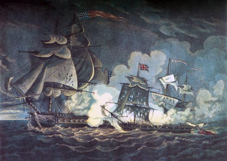 Little Belt Affair A May 16, 1811 engraving shows USS President