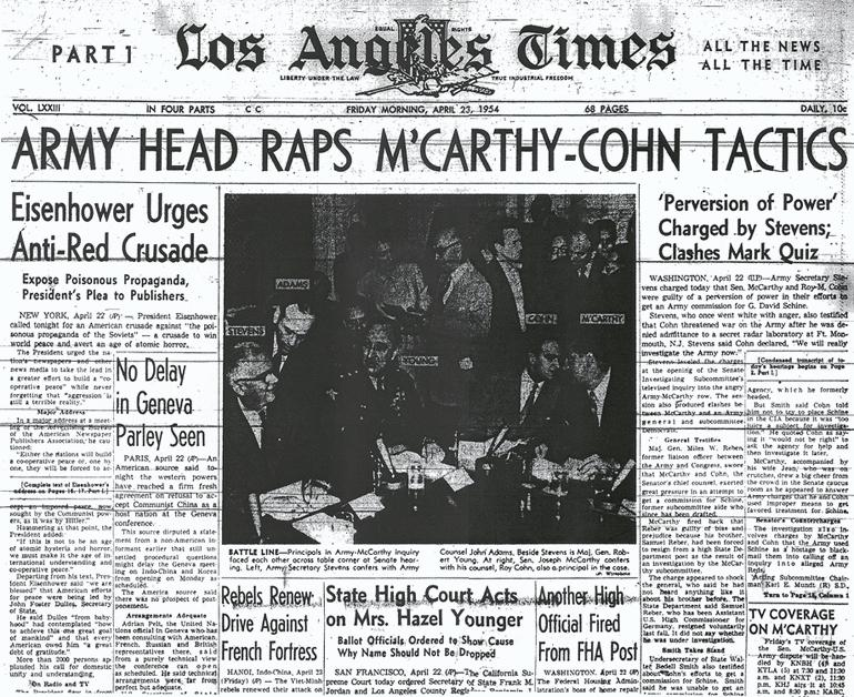 End of McCarthyism