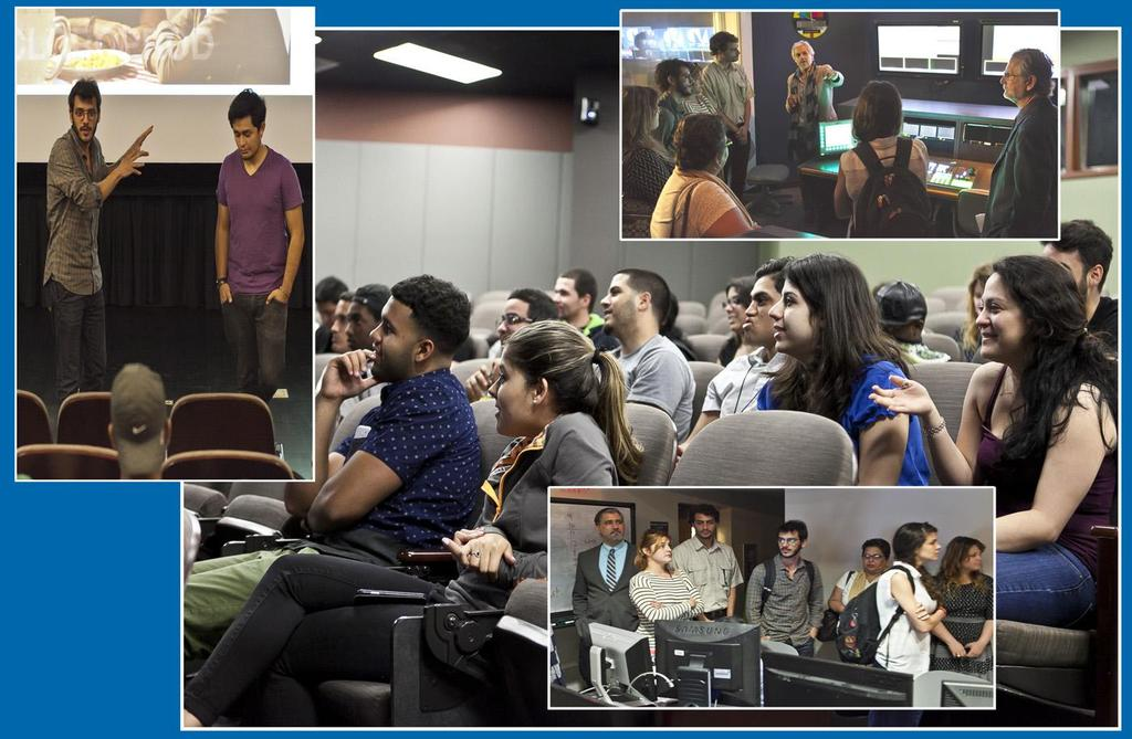 lectures and held exchanges with students and professors at the North Campus School of Entertainment and Design Technology where they also screened their films.