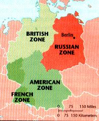 The Unification of Germany Western Allies unify Germany into West Germany American Zone, French Zone, and British Zone