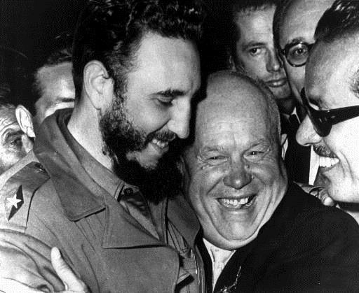 Castro and Khrushchev Khrushchev promises full financial and military support to Cuba Promises to send