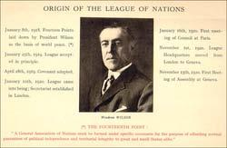 by creating the League of Nations.