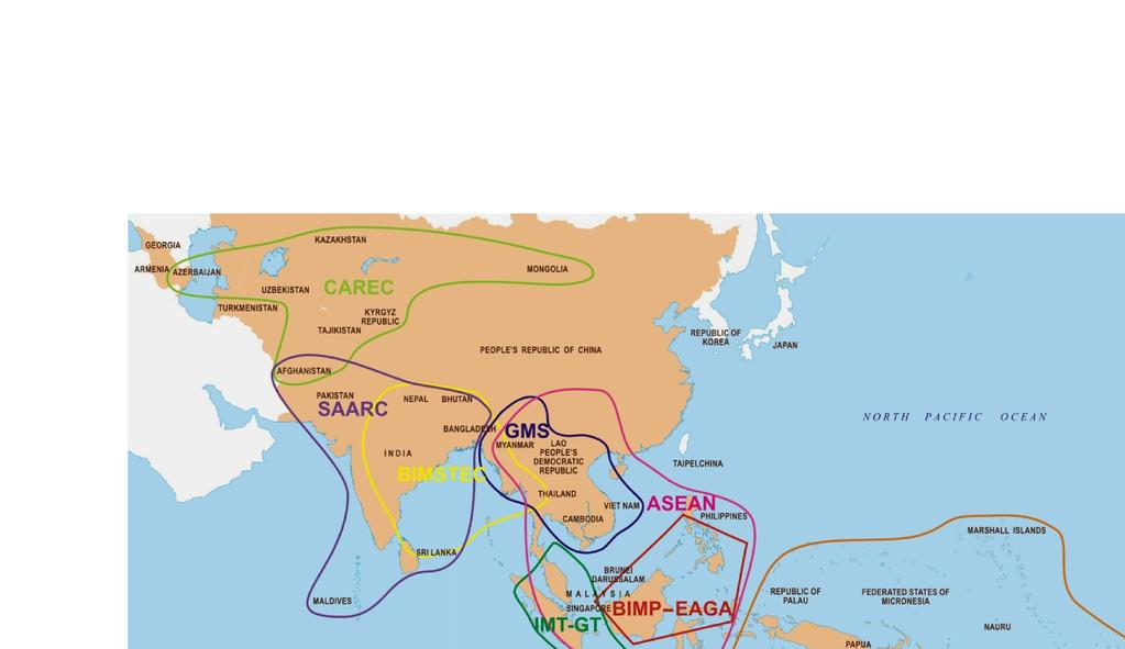 Centrality of SASEC in The Garland of an Integrated Asia SASEC Asia is increasingly integrated economically stretching from the shores of the Black Sea in the West to the Western shores of the