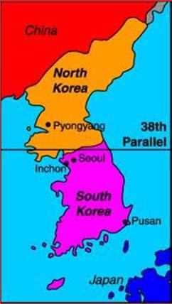 Americans Fight in Korea The focus of attention turned to the peninsula of Korea.