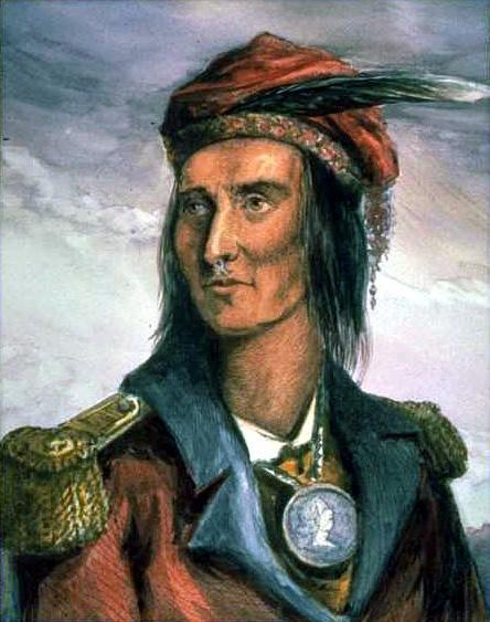 Tecumseh, Shawnee Chief Revived old Indian confederacy in Ohio