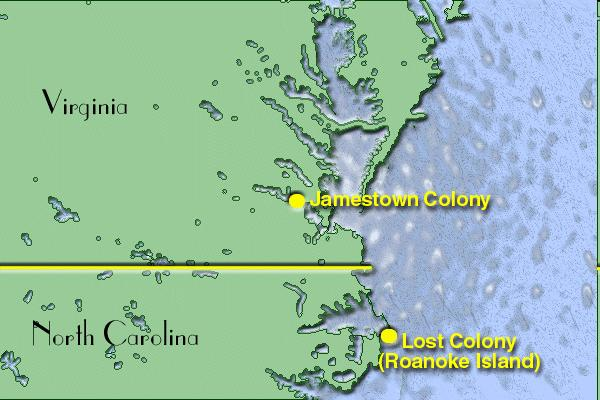Roanoke Colony 1 Attempt 1585, 100 men were sent to colonize Roanoke Colony Colonists did not know