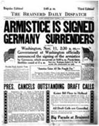 Ending the War (1918) Kaiser Wilhelm abdicates on November 9 th 1918 11 th hour of the 11 th day of the 11 th month in 1918 Germany agrees to a cease-fire Day becomes a national