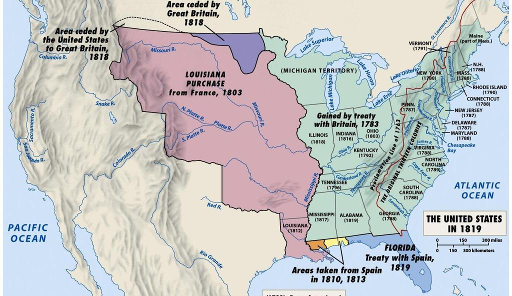 President Monroe and his Secretary of State John Quincy Adams used foreign policy to promote nationalism & territorial expansion In 1818,