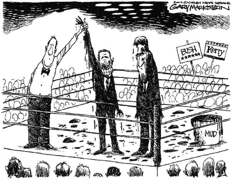 Section 5 The Election The cartoon below was published in November 2004, shortly after the presidential election took place. The campaign between President George W.