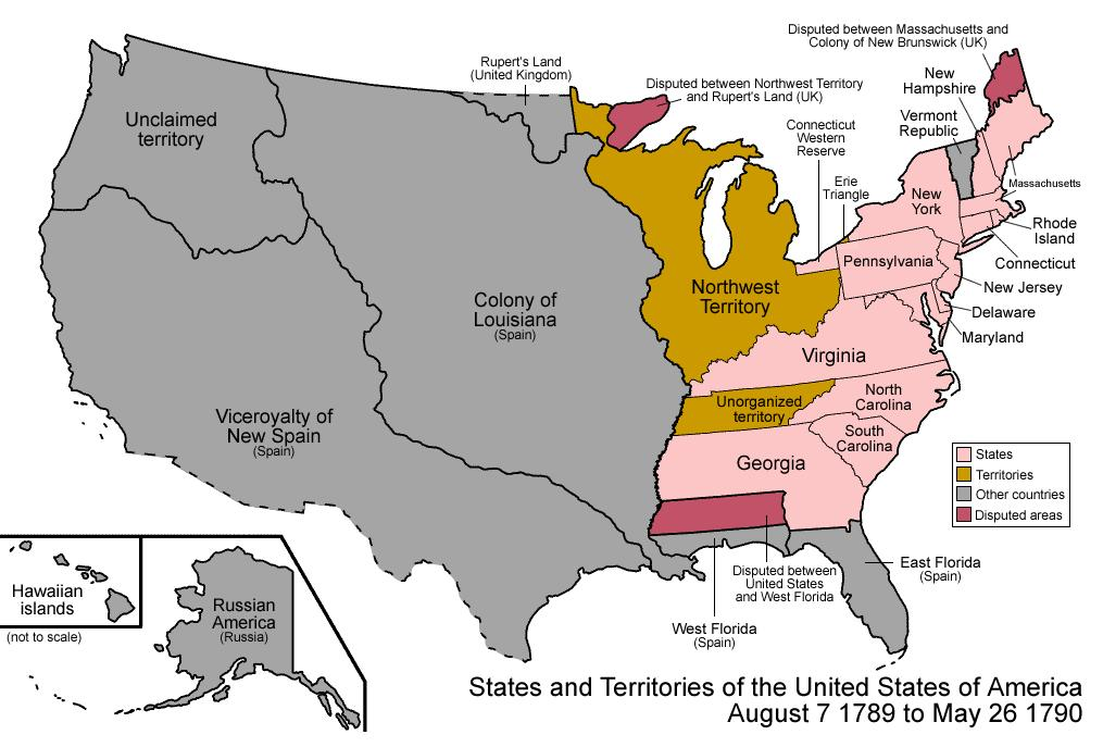 Know your geography: Original 13 states to ratify the Constitution (USI.10) Proclamation Line of 1763 (USI.