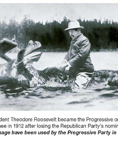 Ie. The Progressive parties of Theodore Roosevelt and Robert La Follette split from the Republican Party.