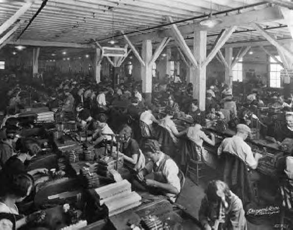 #22 What was factory work like in the Repetitive, boring Unhealthy fumes and dust, dangerous machines Dangerous few safety regulations and no insurance or workers