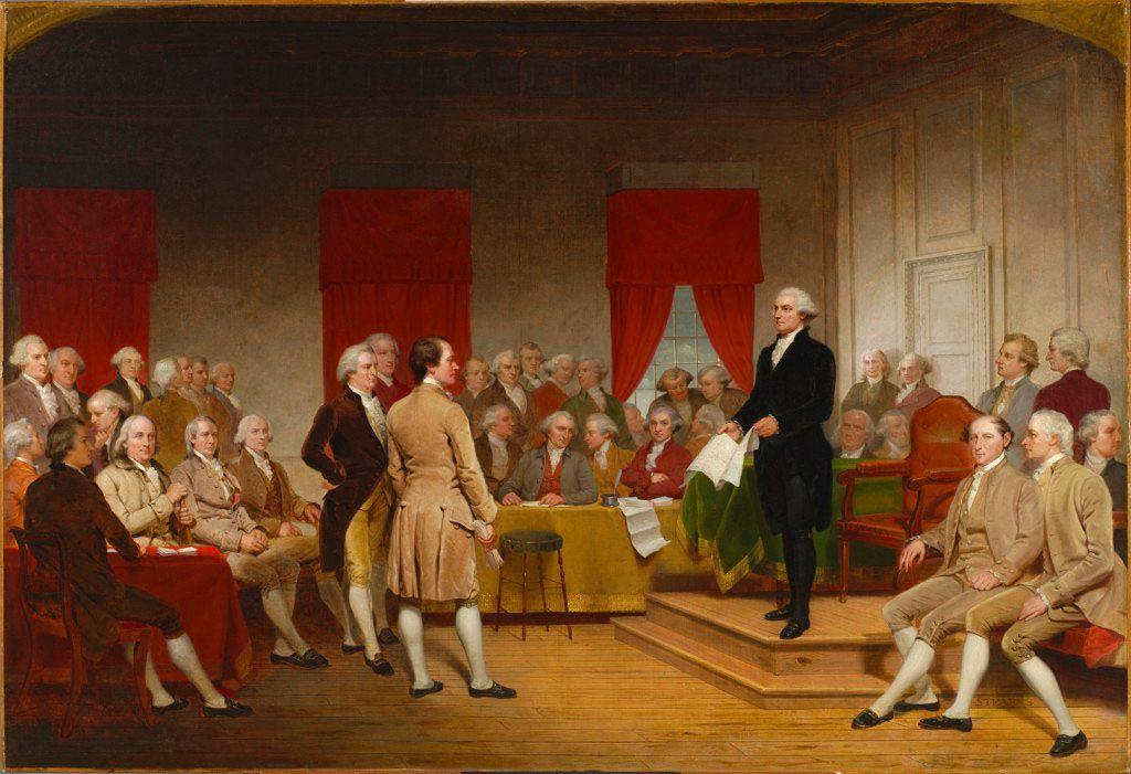 The Convention Organizes The delegates chose George Washington to lead the meetings. Delegates also decided that each state would have one vote on all questions.
