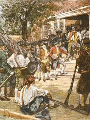 Shays s Rebellion They closed down courthouses to keep judges from taking their farms. Then they marched on the national arsenal at Springfield and seized weapons stored there.