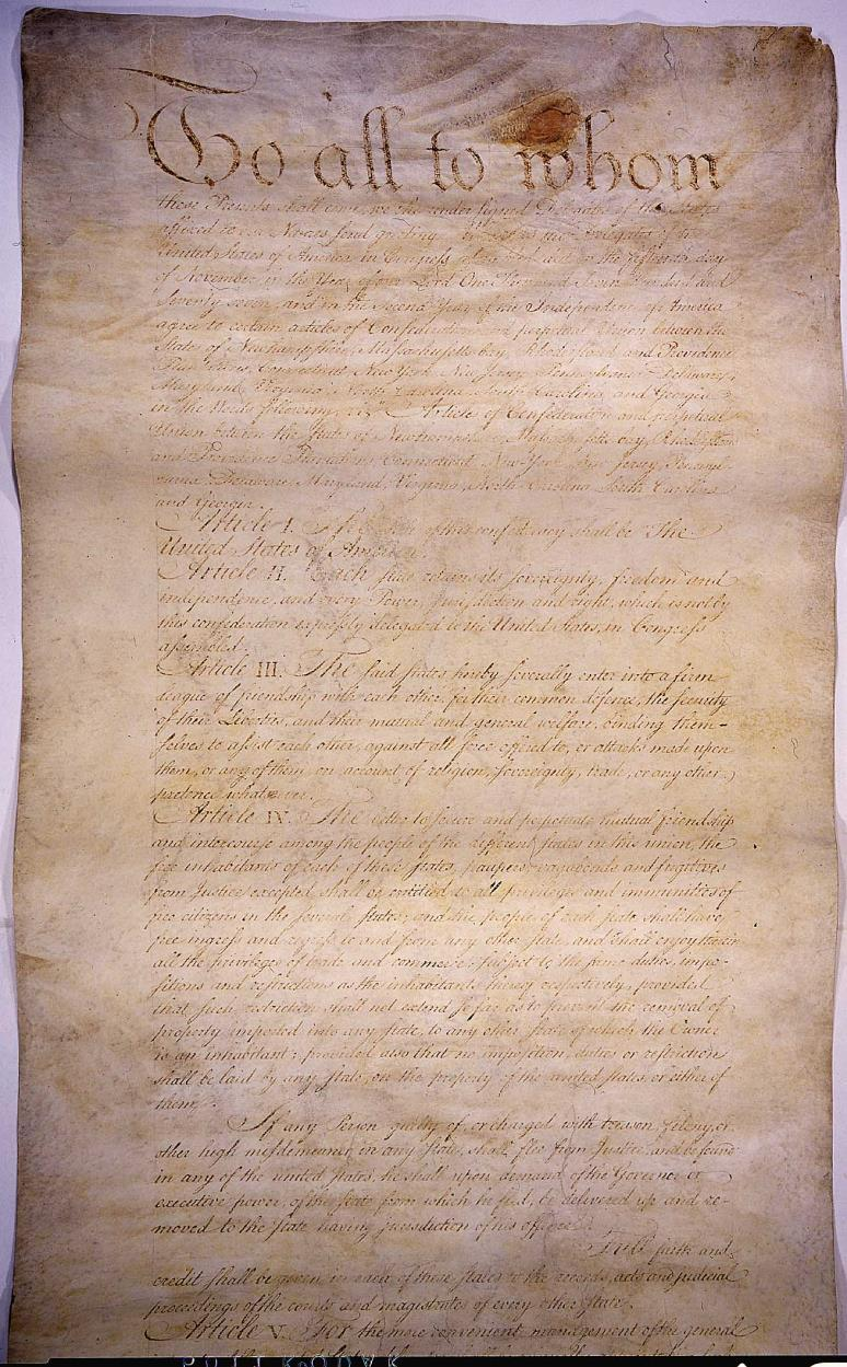 The Articles of Confederation After declaring independence from Britain in 1776, Congress tried to unite the states under one national government.