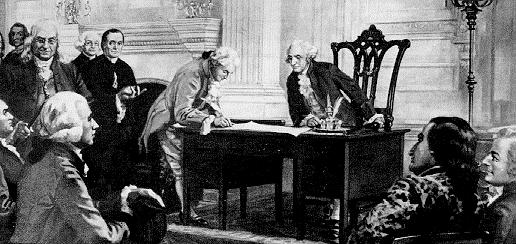 Signing the Constitution On September 17, 1787, the Constitution was finally finished and put up to a vote. Benjamin Franklin stated, I confess that I do not entirely approve of this Constitution.
