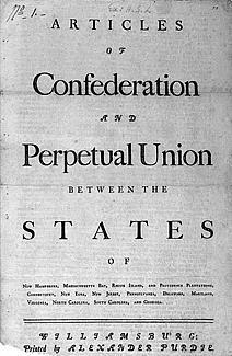 In November 1777, the Continental Congress adopted the Articles of Confederation and