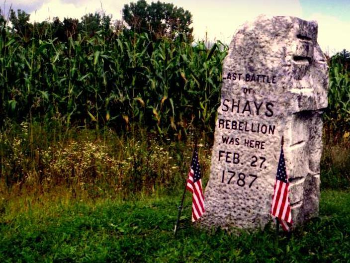 The governor of Massachusetts sent 4,000 volunteer soldiers to stop Shays only four farmers died and the rest ran away the rebellion was over!