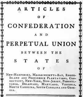 AMERICA S FIRST CONSTITUTION ARTICLES OF CONFEDERATION - created in 1777 (1781 ratified) - America s first constitution - A plan to