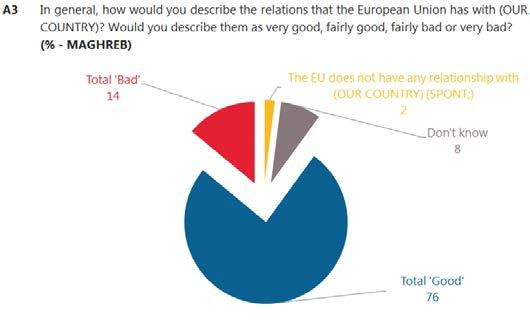 Fewer than one in twenty in either group of countries says the European Union does not have a relationship with their country.