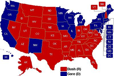 2000 Presidential Election By November
