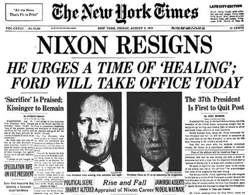 a Presidential cover-up on the tapes, the House began discussions to impeach Nixon In August