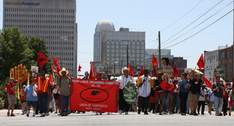 Unions sign contracts with growers and corporations so that farm workers have rights