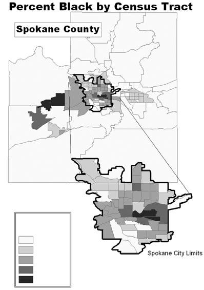 V. Segregation and Neighborhood Characteristics Blacks, Asians, and NHPIs are higher than their counterparts in Idaho. Compared to their counterparts in the U.S., Asians and Hispanics in Kootenai County have lower family poverty rates, while Asians, AIANs, and Hispanics show lower individual poverty.