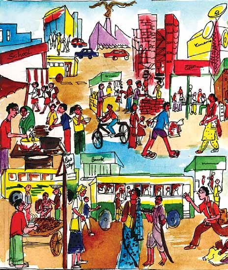 Chapter 9 Urban Livelihoods 1. What do you see in this illustration? 2. You have already read about the work that people do in rural areas.