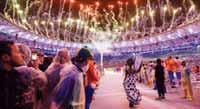 "In accordance with tradition, I call upon the youth of the world to assemble in four years time in Tokyo, Japan to celebrate the Games of the 32nd Olympiad,"" Bach said to the huge applause of the"