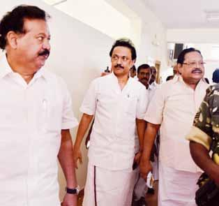 nation 06 Jaya demolishes DMK charges CHALLENGES KARUNANIDHI, STALIN FOR DEBATE KUMAR CHELLAPPAN n CHENNAI n a show of strength, grit and Iarticulation, Chief Minister J Jayalalithaa on Monday