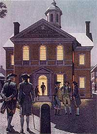 First Continental Congress The first Continental Congress met in Carpenter's Hall in Philadelphia, from September 5, to October 26, 1774.